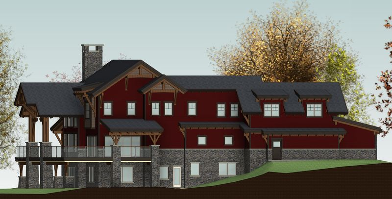 De-Winton-Steepe-Canadian-Timberframes-Design-Rear-Elevation
