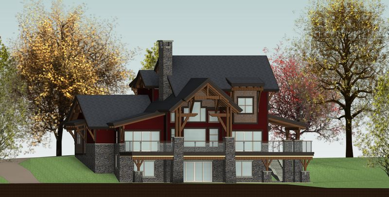 De-Winton-Steepe-Canadian-Timberframes-Design-Right-Elevation