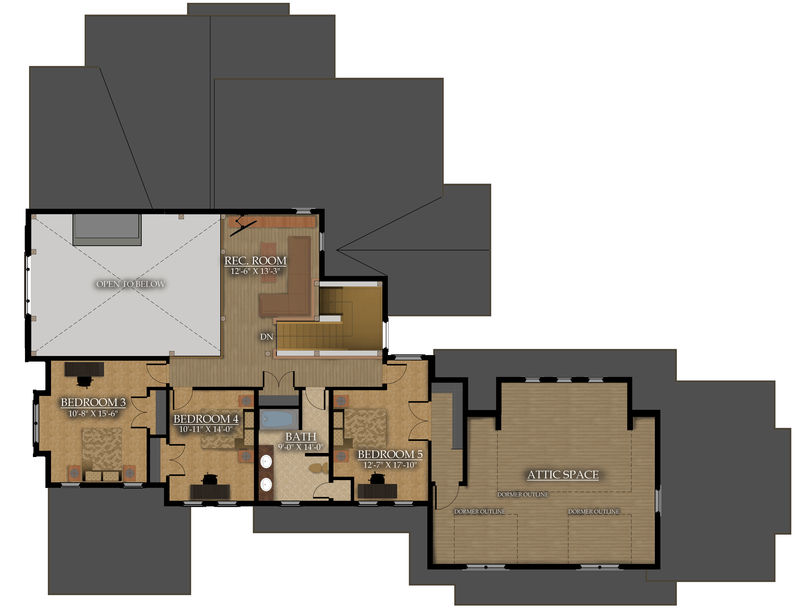 Upper level : 1,699 Sq.ft.