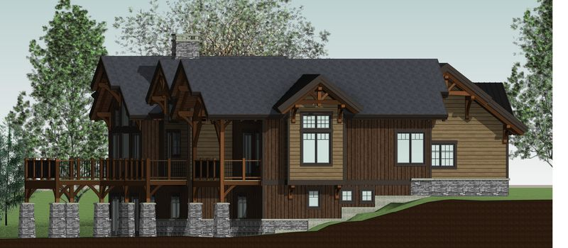 Bear-Rock-Canadian-Timberframes-Design-Rear-Elevation