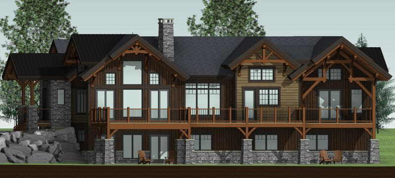 Bear-Rock-Canadian-Timberframes-Design-Right-Elevation