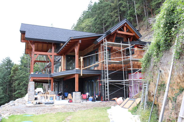 Whytecliff-Bowen-Island-British-Columbia-Construction-Fireplace