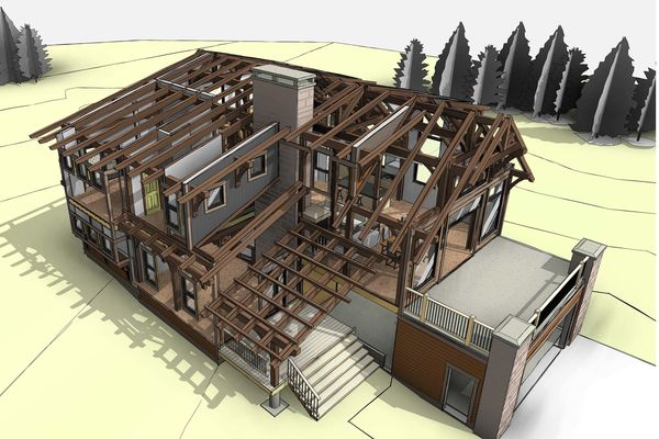 Caribou-Peak-Fernie-BC-Canadian-Timberframes-Design-Exploded-Timber