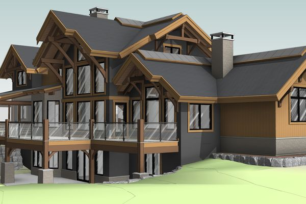 Northern-Meadows-Whitecourt-Alberta-Canadian-Timberframes-Design-Rear-Left-Perspective