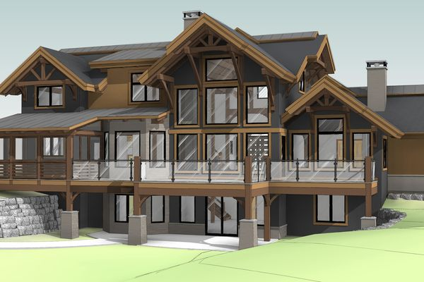 Northern-Meadows-Whitecourt-Alberta-Canadian-Timberframes-Design-Rear-Perspective