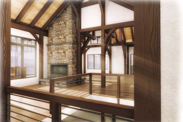 Bear-Rock-Colebrook-New-Hampshire-Canadian-Timberframes-Design-Interior