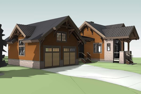 Bear-Rock-Colebrook-New-Hampshire-Canadian-Timberframes-Design-Front-elevation