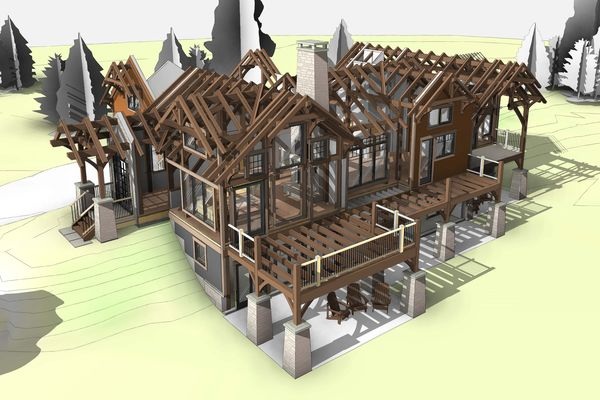 Bear-Rock-Colebrook-New-Hampshire-Canadian-Timberframes-Design-Exploded-Timber