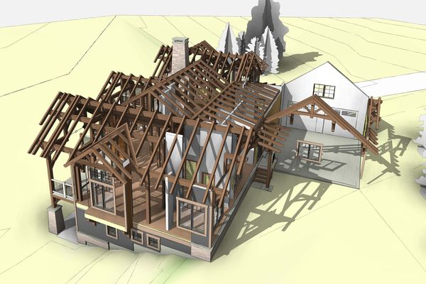 Bear-Rock-Colebrook-New-Hampshire-Canadian-Timberframes-Design-Exploded-timber-Floorplan