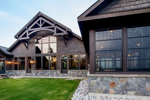 Modern-Trails-Ontario-Canadian-Timberframes-Rear--Stone-work