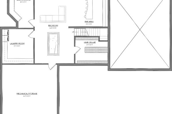 Polished-Vale-Canmore-Alberta-Canadian-Timberframes-Design-Exploded-Timber-Basement-Floor-Plan