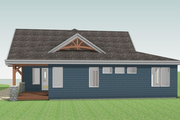 Cozy-Inlet-Kawartha-Lakes-Ontario-Canadian-Timberframes-Design-Rear-Elevation