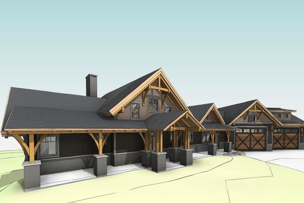 Sprawling-Peaks-Alberta-Canadian-Timberframes-Design-Front-Left-Perspective