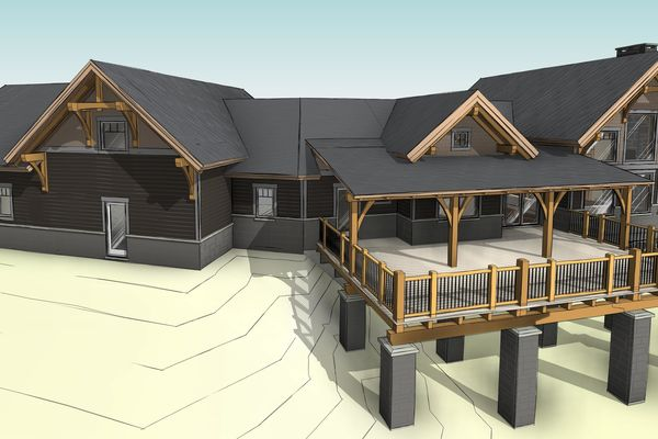 Sprawling-Peaks-Alberta-Canadian-Timberframes-Design-Rear-Perspective