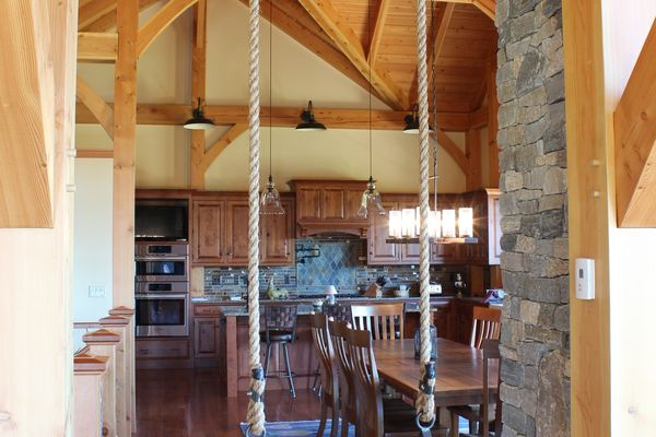 Bear-Rock-Colebrook-New-Hampshire-Canadian-Timberframes-Dining-Kitchen