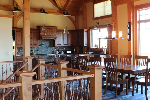Bear-Rock-Colebrook-New-Hampshire-Canadian-Timberframes-Kitchen-Dining