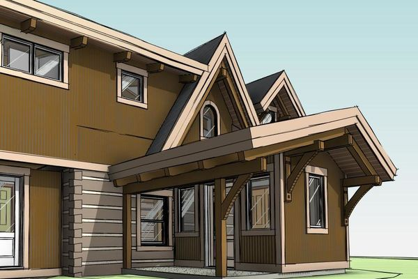 Clearview-Chalet-Collingwood-Ontario-Canadian-Timberframes-Design-Front-Entry