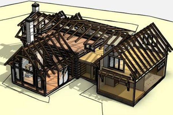 Clearview-Chalet-Collingwood-Ontario-Canadian-Timberframes-Design-Timber-View