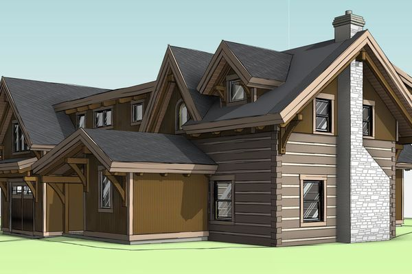 Clearview-Chalet-Collingwood-Ontario-Canadian-Timberframes-Design-Front-Right-Perspective