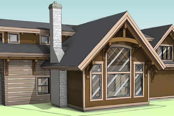 Clearview-Chalet-Collingwood-Ontario-Canadian-Timberframes-Design-Rear-Right-Perspective