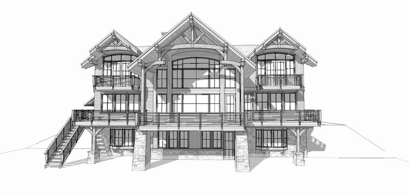 Osprey-Point-Canadian-Timberframes-Design-Rear-Elevation