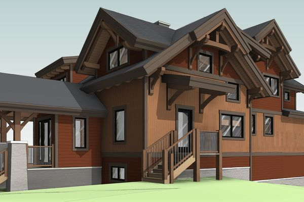Lake-Koocanusa-Montana-Canadian-Timberframes-Design-Front-Right-Elevation