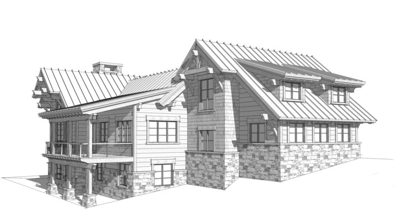 Columbia-Valley-Canadian-Timberframes-Design-Left-Elevation