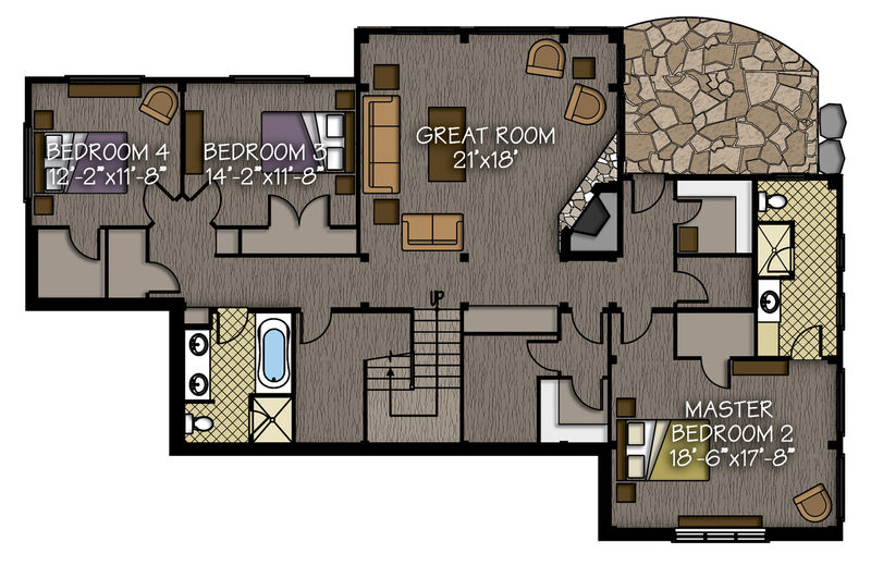 Lower level living space: 1,957 sq. ft.