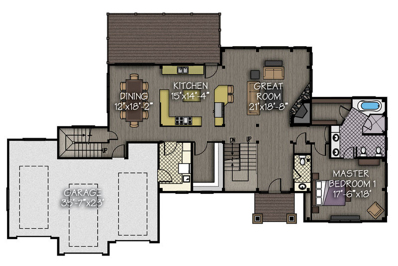 Living space: 2,130 sq. ft. 3-Car garage:  844 sq. ft.