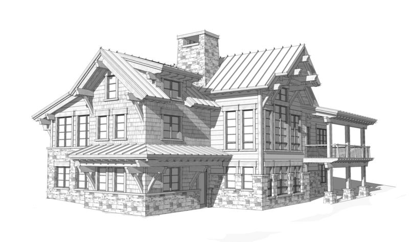 Columbia-Valley-Canadian-Timberframes-Design-Right-Elevation