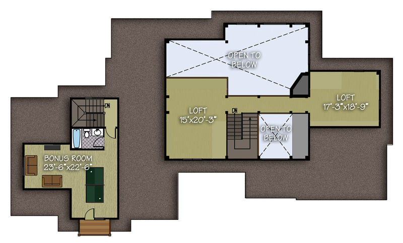 Living space: 1,052 sq. ft.