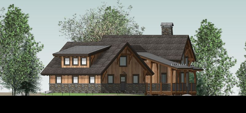 Bragg-Creek-Canadian-Timberframes-Design-Right-Elevation