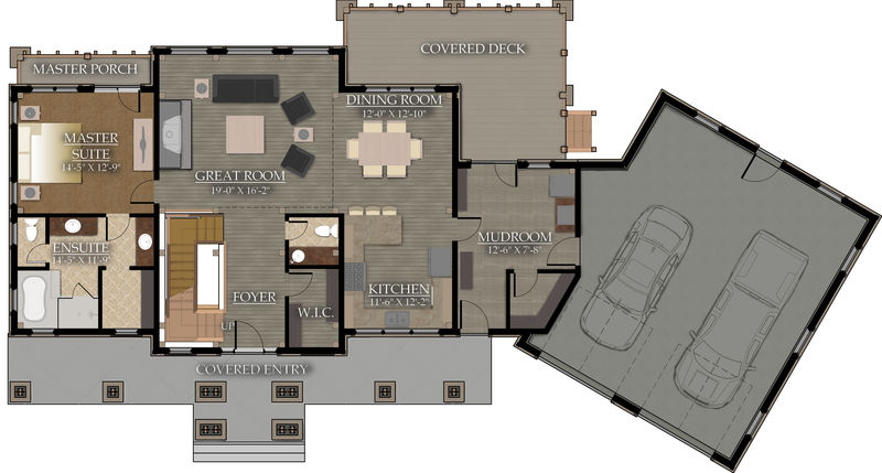 Living space: 1,550 Sq.ft. Main Floor
