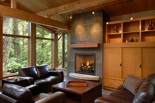 Nestled-Retreat-Tofino-British-Columbia-Canadian-Timberframes-Great-Room-fireplace