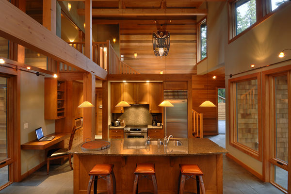 Nestled-Retreat-Tofino-British-Columbia-Canadian-Timberframes-Kitchen-Dining